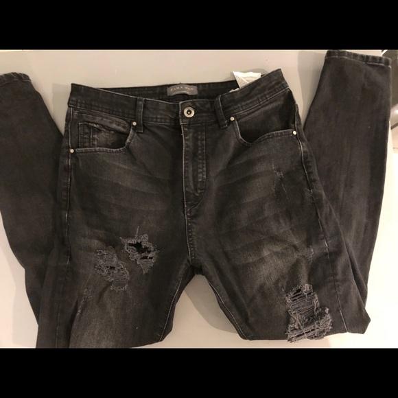 16585923 Zara man black distressed jeans. M_5a7d359b36b9de83b72c6177